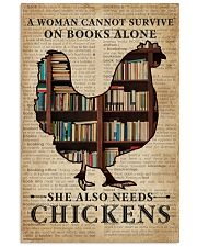 Survive On Books And Chickens 11x17 Poster front