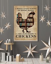 Survive On Books And Chickens 11x17 Poster lifestyle-holiday-poster-1