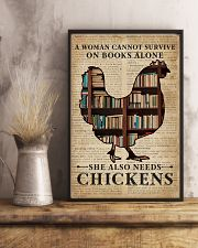 Survive On Books And Chickens 11x17 Poster lifestyle-poster-3