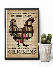 Survive On Books And Chickens 11x17 Poster lifestyle-poster-8