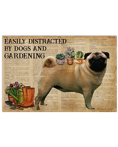 Dictionary Distracted By Pug Gardening