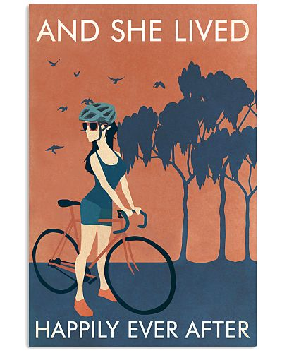 Vintage Orange And She Lived Cycling