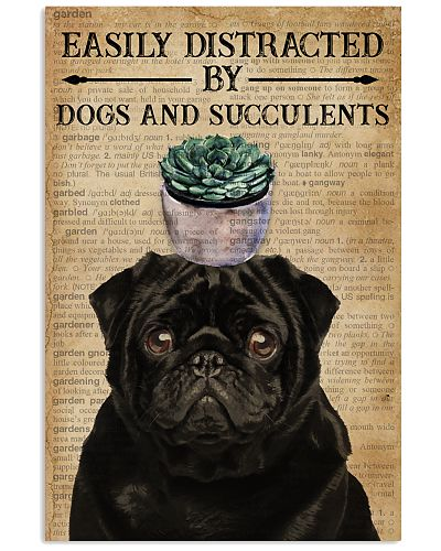 Dictionary Easily Distracted By Pug and Gardening