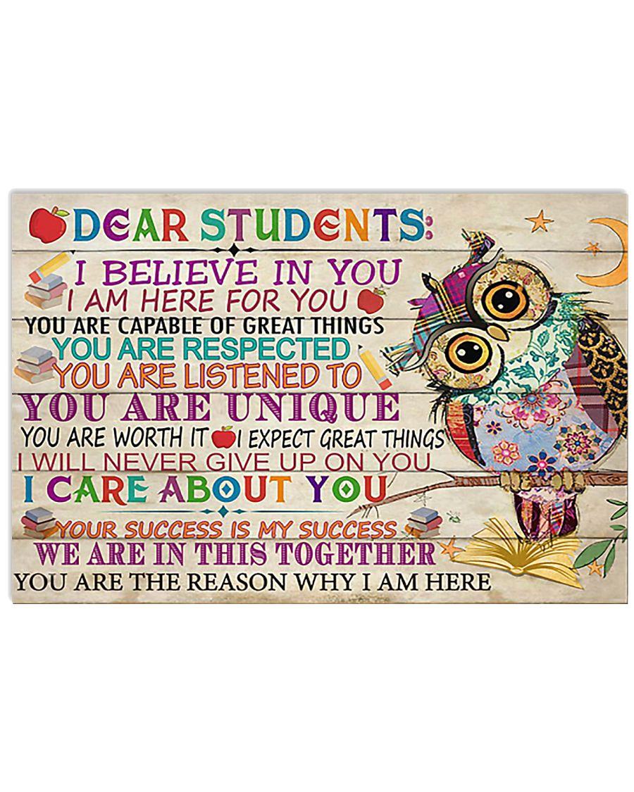 Teacher Owl Dear Students 17x11 Poster