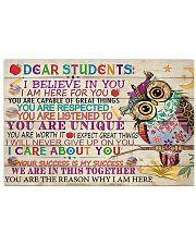 Teacher Owl Dear Students 17x11 Poster front