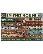 Deer Hunting In This House Great Outdoors 17x11 Poster front
