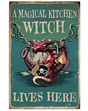 Retro Teal Magical Kitchen Witch Dragon 11x17 Poster front