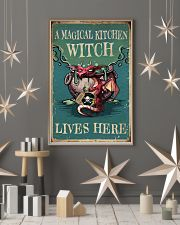 Retro Teal Magical Kitchen Witch Dragon 11x17 Poster lifestyle-holiday-poster-1