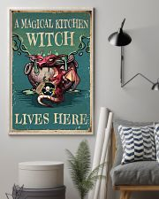 Retro Teal Magical Kitchen Witch Dragon 11x17 Poster lifestyle-poster-1