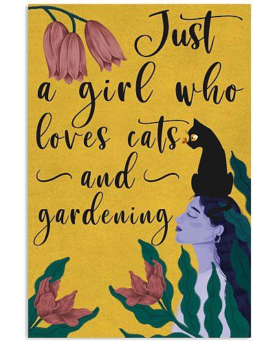 Just A Girl Loves Cat Gardening