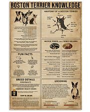 Boston Terrier Knowledge 11x17 Poster front