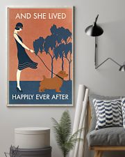 Vintage Girl Lived Happily Norfolk Terrier 11x17 Poster lifestyle-poster-1