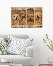 Golden Retriever If You Feel Sad 24x16 Poster poster-landscape-24x16-lifestyle-01