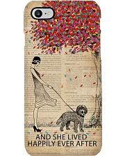 Live Happily Vintage Dictionary Tree Cockapoo Phone Case i-phone-7-case