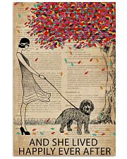 Live Happily Vintage Dictionary Tree Cockapoo 11x17 Poster thumbnail