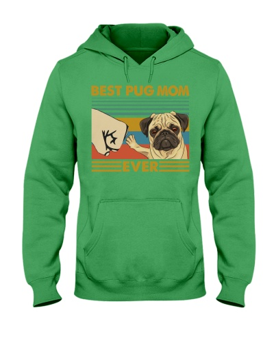 Retro Blue Best Pug Mom Ever