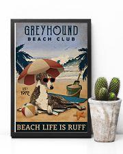 Vintage Beach Club Is Ruff Greyhound 11x17 Poster lifestyle-poster-8