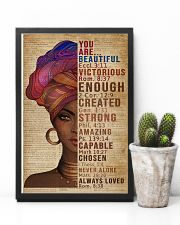 You Are Beautiful Black Girl Dictionary 11x17 Poster lifestyle-poster-8