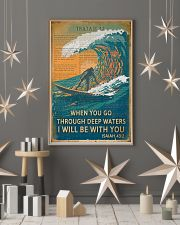 Vintage Bible Go Through Deep Water Surfing 11x17 Poster lifestyle-holiday-poster-1