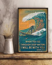 Vintage Bible Go Through Deep Water Surfing 11x17 Poster lifestyle-poster-3