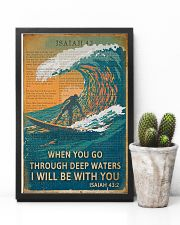 Vintage Bible Go Through Deep Water Surfing 11x17 Poster lifestyle-poster-8