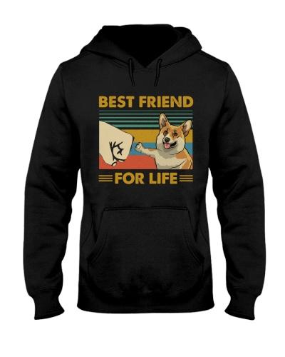 Retro Blue Best Friend For Life Corgi