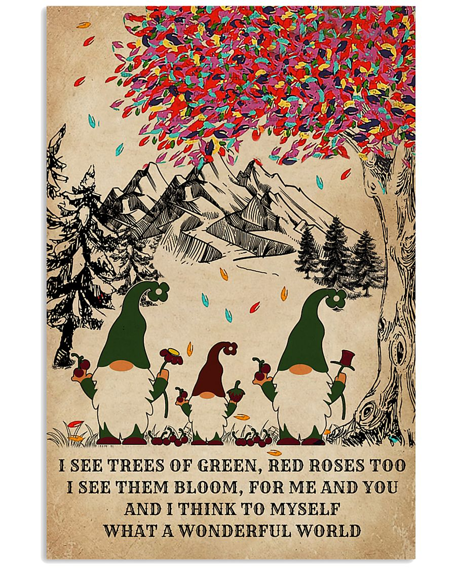 Spring Gnomes I See Trees Of Green 11x17 Poster