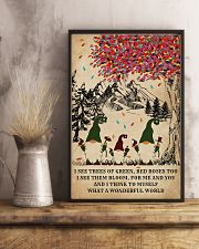 Spring Gnomes I See Trees Of Green 11x17 Poster lifestyle-poster-3