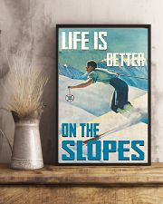 Life Is Better On The Slopes Skiing 16x24 Poster lifestyle-poster-3