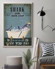 Vintage Bath Soap Shark 11x17 Poster lifestyle-poster-1