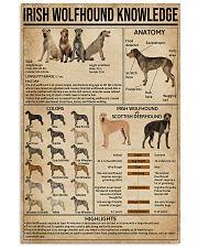 Irish Wolfhound Knowledge 16x24 Poster front
