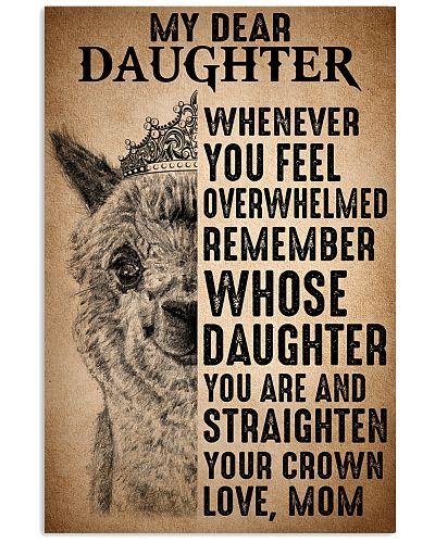 To Daughter Straighten Your Crown Alpaca
