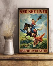 Retro Horse Riding Girl With Dogs Lived Happily 11x17 Poster lifestyle-poster-3