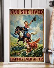 Retro Horse Riding Girl With Dogs Lived Happily 11x17 Poster lifestyle-poster-4