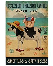 Beach Life Sandy Toes Holstein Friesian Cattle 11x17 Poster front