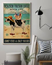 Beach Life Sandy Toes Holstein Friesian Cattle 11x17 Poster lifestyle-poster-1