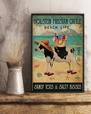 Beach Life Sandy Toes Holstein Friesian Cattle 11x17 Poster lifestyle-poster-3