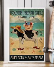 Beach Life Sandy Toes Holstein Friesian Cattle 11x17 Poster lifestyle-poster-4