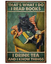 Read Books And Drink Tea Black Cat 11x17 Poster front