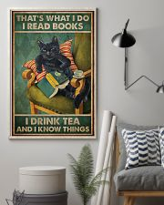 Read Books And Drink Tea Black Cat 11x17 Poster lifestyle-poster-1