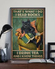 Read Books And Drink Tea Black Cat 11x17 Poster lifestyle-poster-2