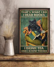Read Books And Drink Tea Black Cat 11x17 Poster lifestyle-poster-3