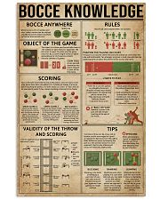 Bocce Knowledge 11x17 Poster front