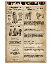 Great Pyrenees Knowledge Dog 11x17 Poster front