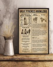 Great Pyrenees Knowledge Dog 11x17 Poster lifestyle-poster-3
