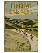 Think Less Live More Cycling 11x17 Poster front