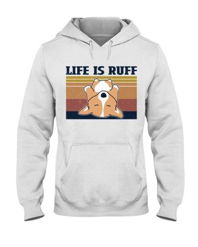 Retro Navy Corgi Life Is Ruff