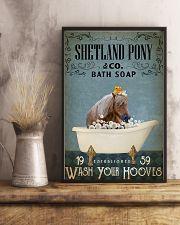Vintage Bath Soap Shetland pony 11x17 Poster lifestyle-poster-3