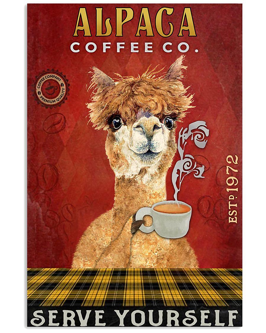 Coffee Company Alpaca 11x17 Poster