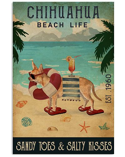 Vintage Beach Cocktail Life Chihuahua